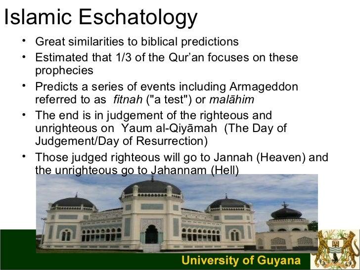 Christian and islamic eschatology
