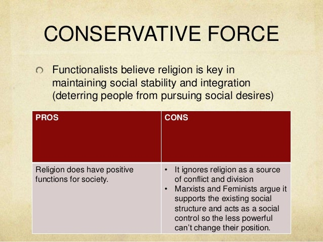 religion as a conservative force
