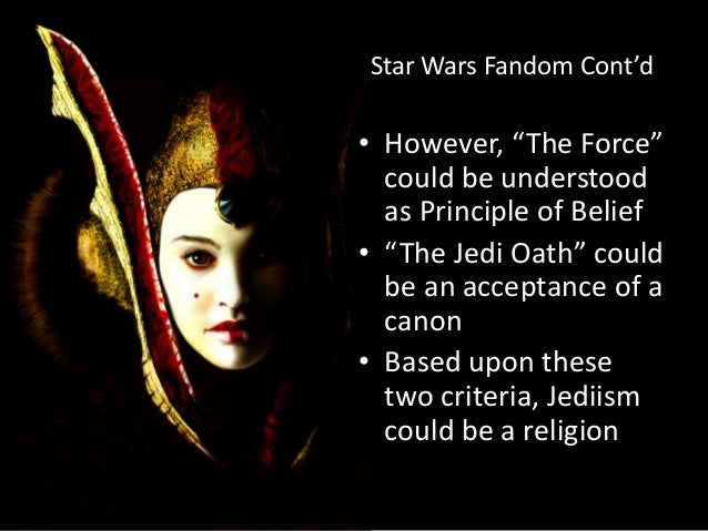 The issue of mixture of religions and philosophic doctrines in Star Wars essay