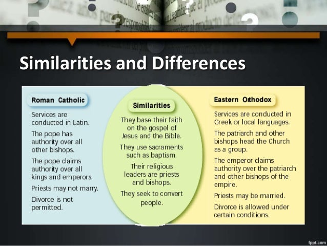 an introduction to the comparison of roman catholic and eastern orthodox church