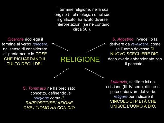 Il termine religione, nella sua                             origine (= etimologia) e nel suo                              ...