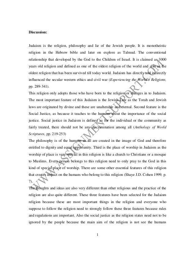 religion essay essay sample from assignmentsupport com essay writing discussion judaism is the religion philosophy and lie of the jewish people