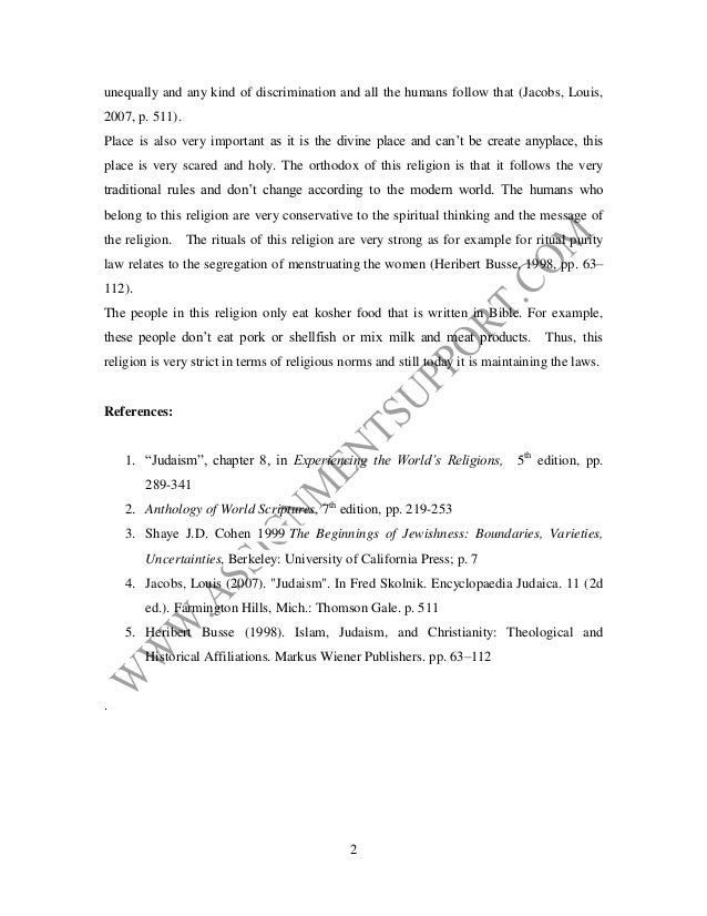 religion essay essay sample from assignmentsupport com essay writing   2 unequally