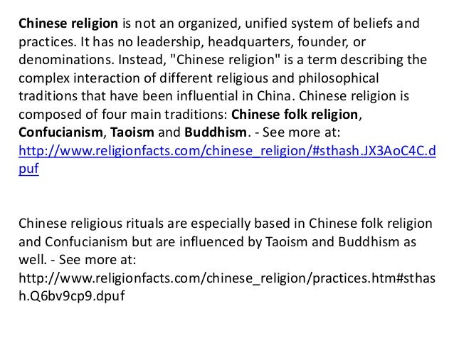 an overview of the three major chinese religious beliefs Taoism is an ancient tradition of philosophy and religious belief that is deeply rooted in chinese beliefs what is the tao religious and.