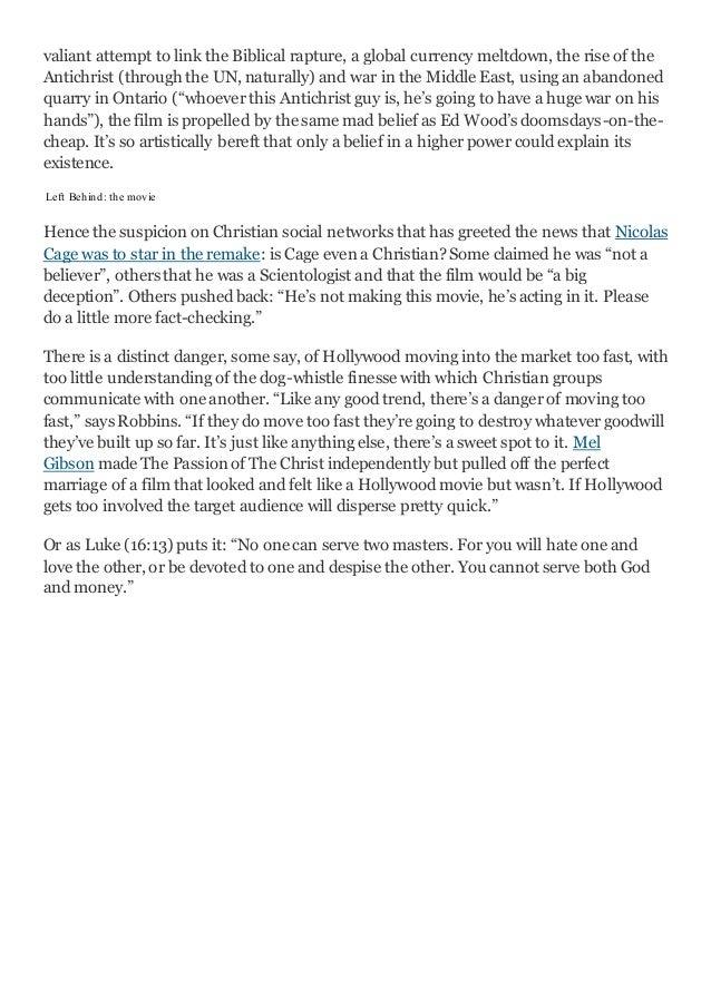 Media Portrayals of Religion: Christianity