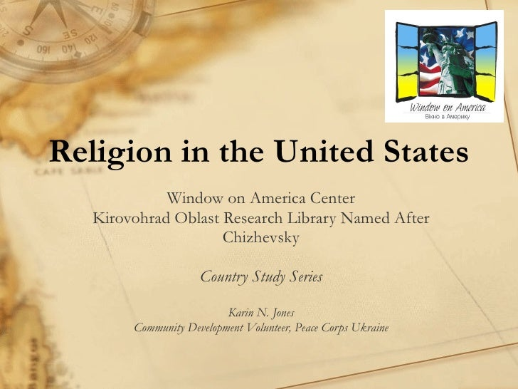 Religion in the United States Window on America Center Kirovohrad Oblast Research Library Named After Chizhevsky Country S...
