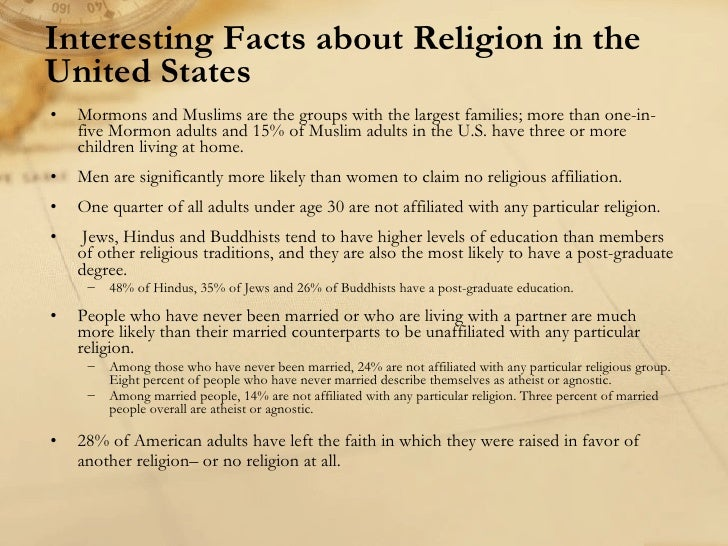 Religion in the us 2 for Interesting fact about america
