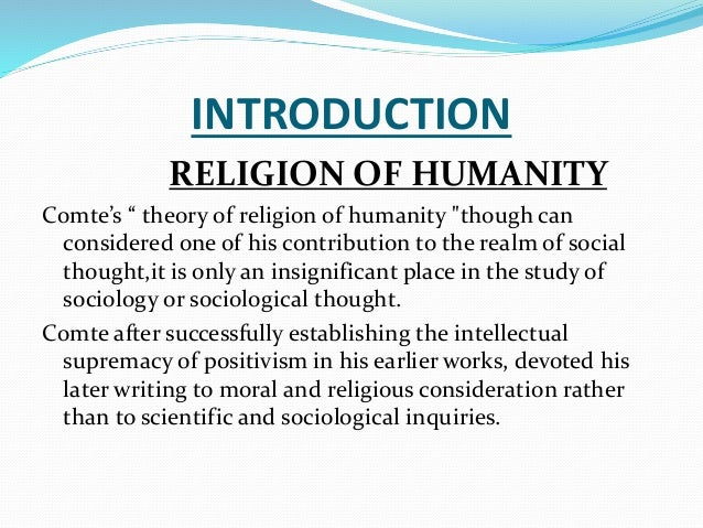 comte religion of humanity