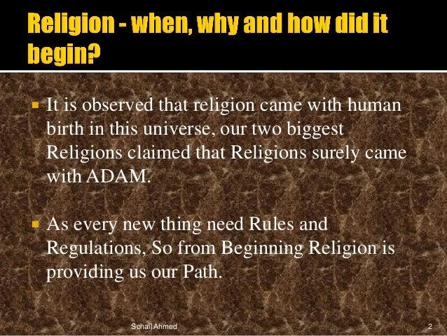 Religion presentation by Sohail Ahmed Slide 2