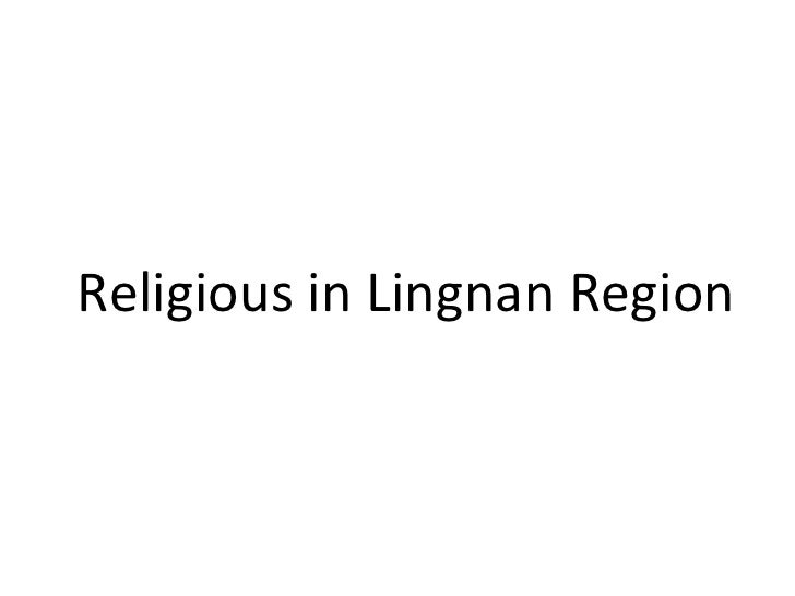 Religious in Lingnan Region