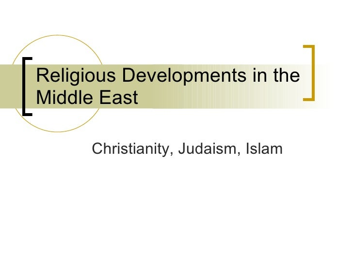 Religious Developments in the Middle East Christianity, Judaism, Islam