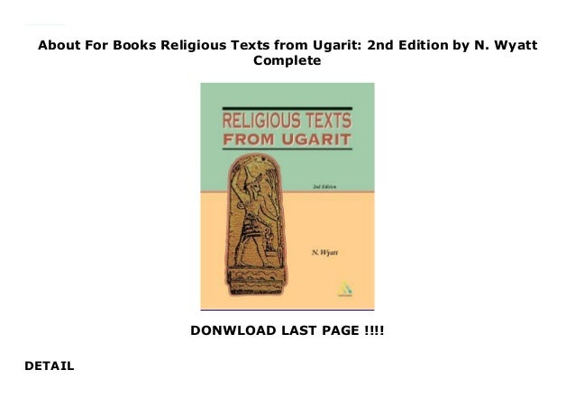 About Religious Texts from Ugarit