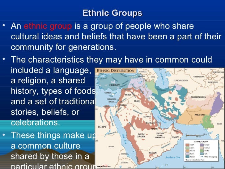 religion and ethnic groups Race and ethnicity defined the most common characteristics distinguishing various ethnic groups are religion, and forms of dress ethnic differences.