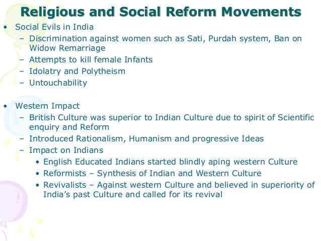 essays on social reform movements india Social reform movements involve the marginalized group and the activists what is the definition of social reform a: social reform essays social reform movement.