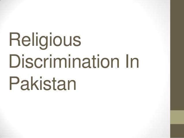 Religious Discrimination In Pakistan