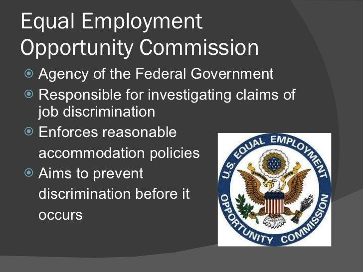 Discrimination and employment opportunity commission