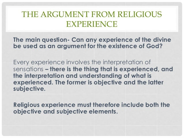 Argument from religious experience