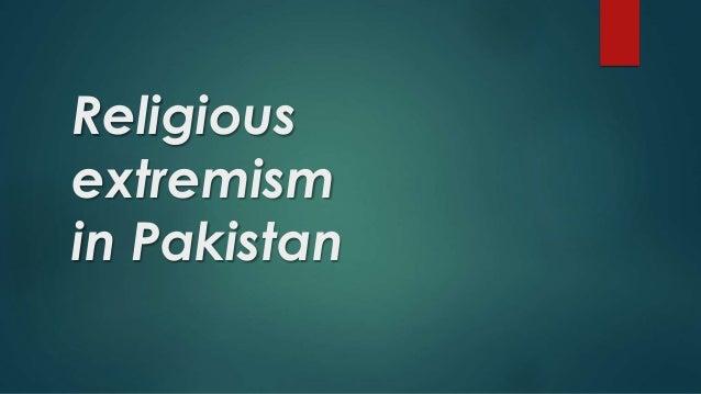 Religious extremism in Pakistan