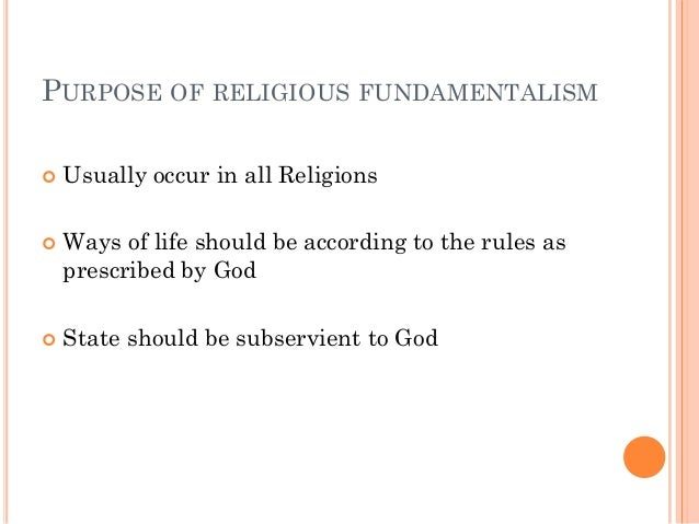 """religious fundamentalism Frequently in america today, radicalism of any type is viewed as wrong and even repugnant people with strongly held beliefs, especially of the """"fundamentalist"""" sort, are labeled as fanatics or religious zealots."""