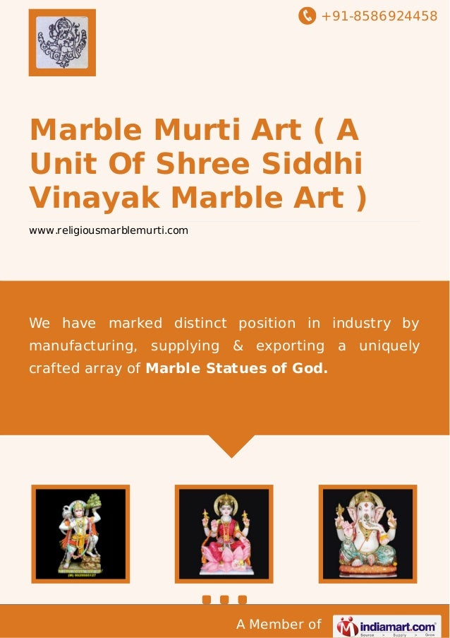 +91-8586924458  Marble Murti Art ( A Unit Of Shree Siddhi Vinayak Marble Art ) www.religiousmarblemurti.com  We have marke...