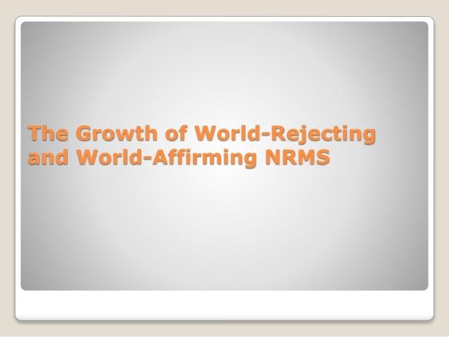 World accommodating new religious movements origin