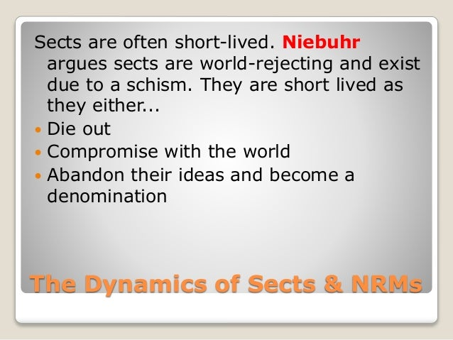 World accommodating sects