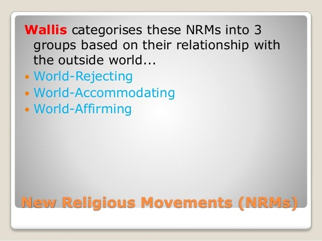 World accommodating new religious movements practices