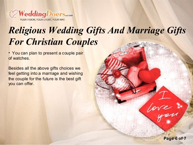 Best Gift For Couples Wedding: Religious Wedding Gifts And Marriage Gifts For Christian