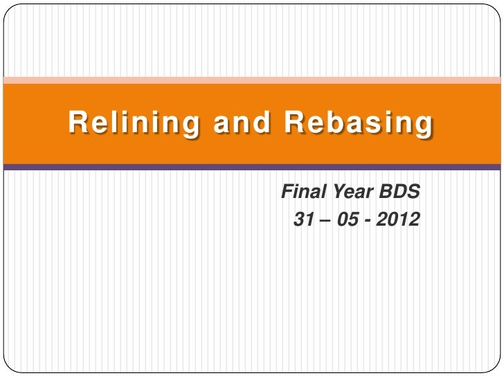 Relining and Rebasing            Final Year BDS             31 – 05 - 2012