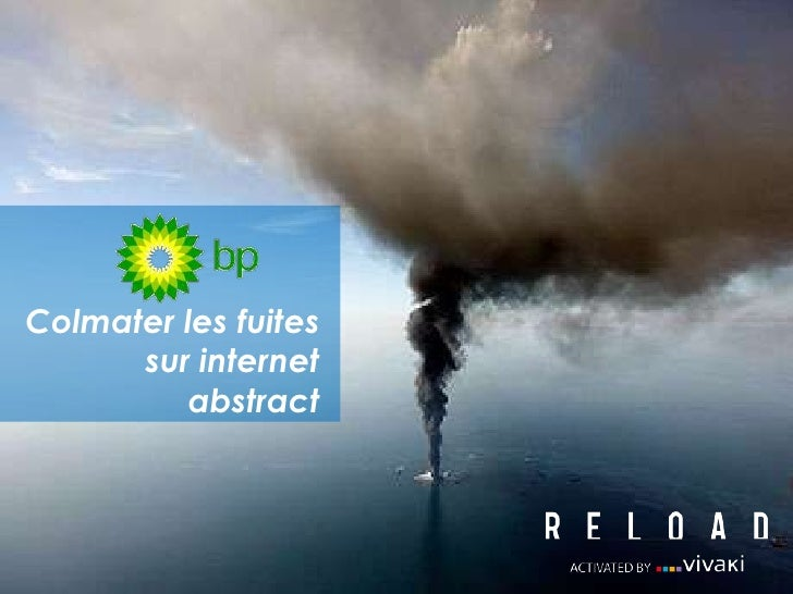 Colmater les fuites sur internetabstract<br />