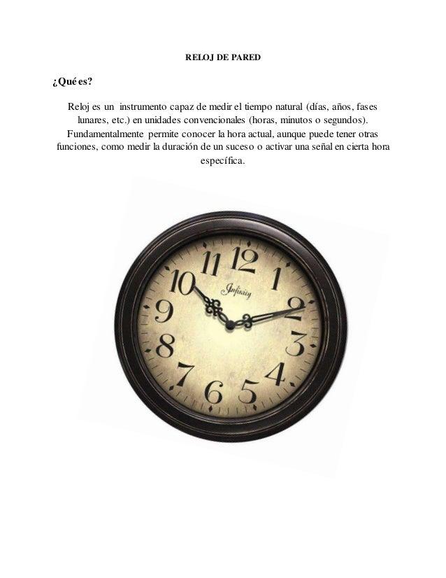 Reloj de pared - Reloj decorativo de pared ...