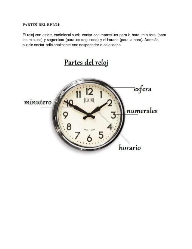 partes de un reloj de pared
