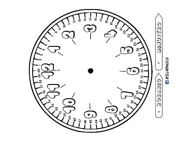 Reloj Para Colorear Aprende A Ver La Hora