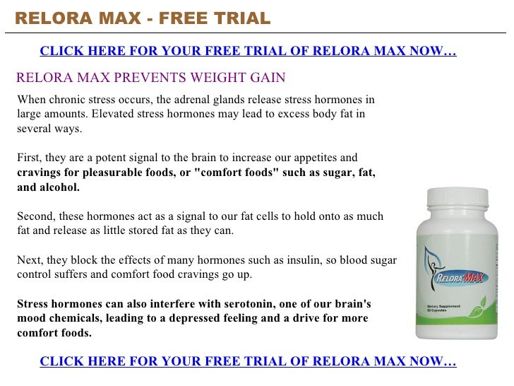 Relora Max Free Trial