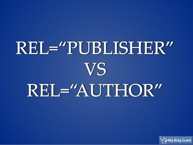 Rel=Publisher versus Rel=author