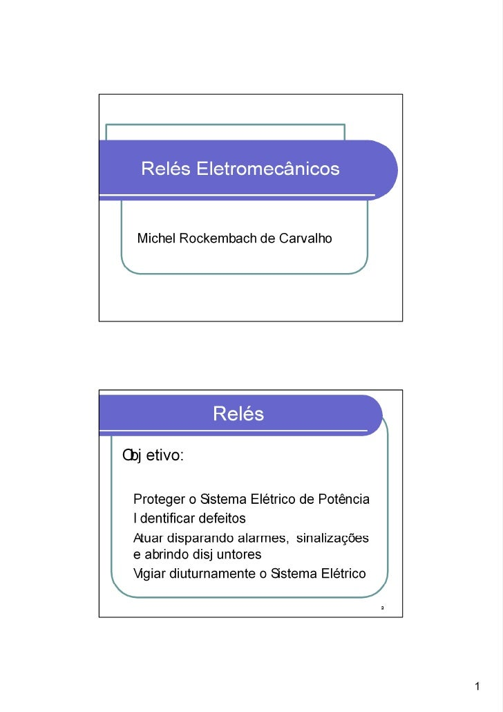 ReléS EletromecâNicos