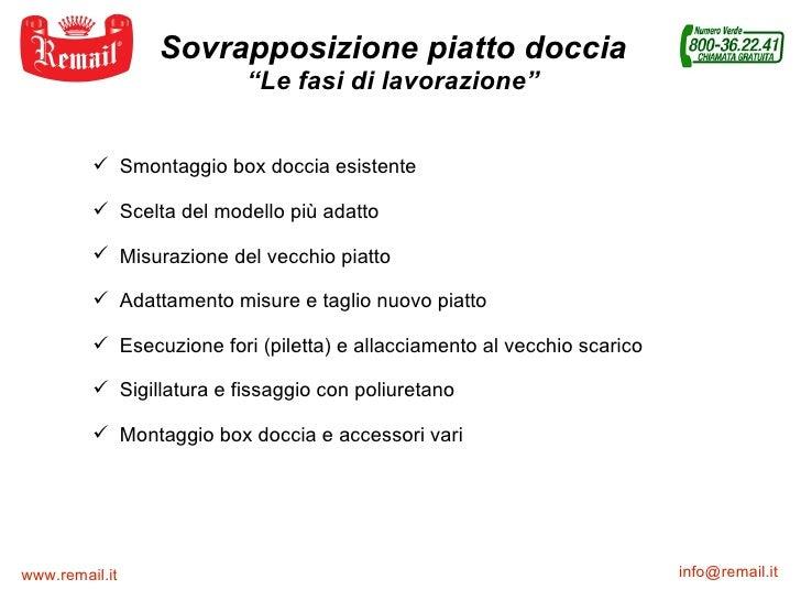 Remail Srl Bagno Accessori.Sovrapposizione Piatto Doccia Remail Srl