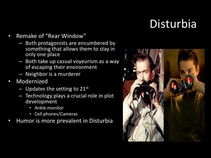 "remake essay powerpoint  ese culture 8 disturbia• remake of ""rear window"""