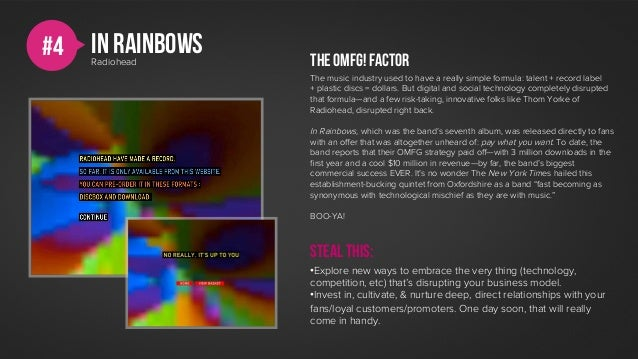 #4   In rainbows     Radiohead     The OMFG! factor                   The music industry used to have a really simple form...