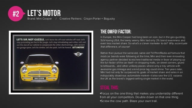 #2   Let's motor     Brand: Mini Cooper   /   Creative Partners: Crispin Porter + Bogusky                                 ...