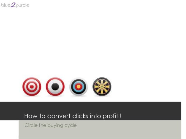 How to convert clicks into profit !Circle the buying cycle