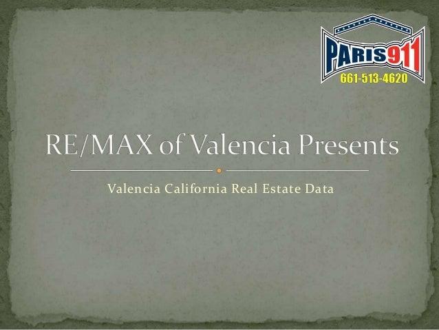 Valencia California Real Estate Data