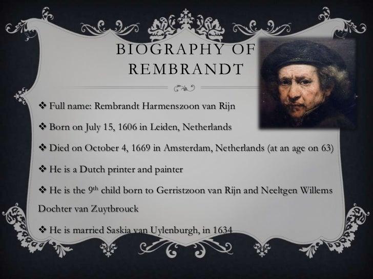 Full Name: Rembrandt