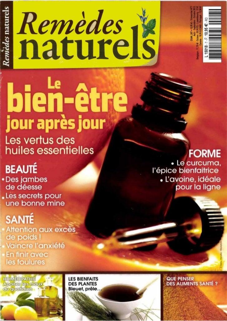 Remedes naturels n°7   aout - septembre -octobre 2012