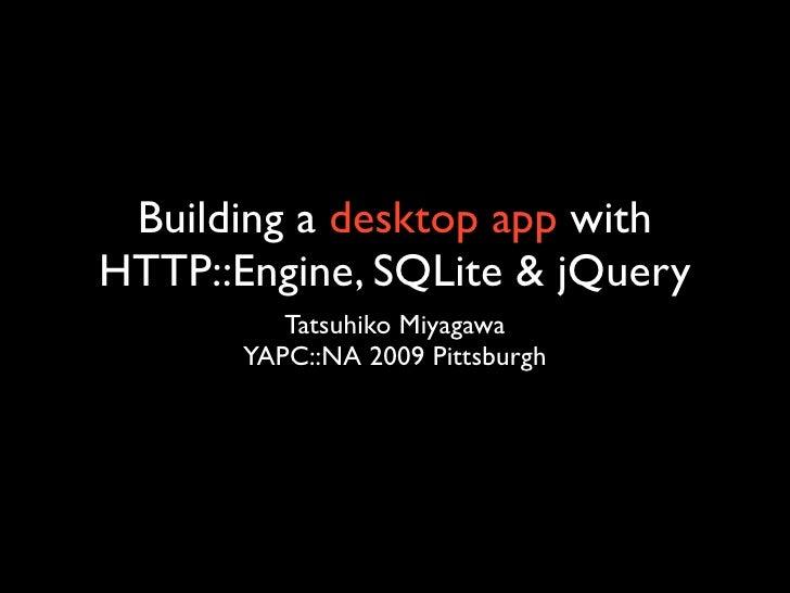 Desktop GUI apps