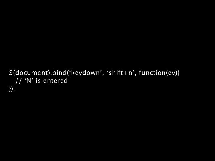 $.event.trigger $(document).bind