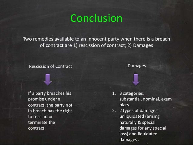 Contract Law  Remedies