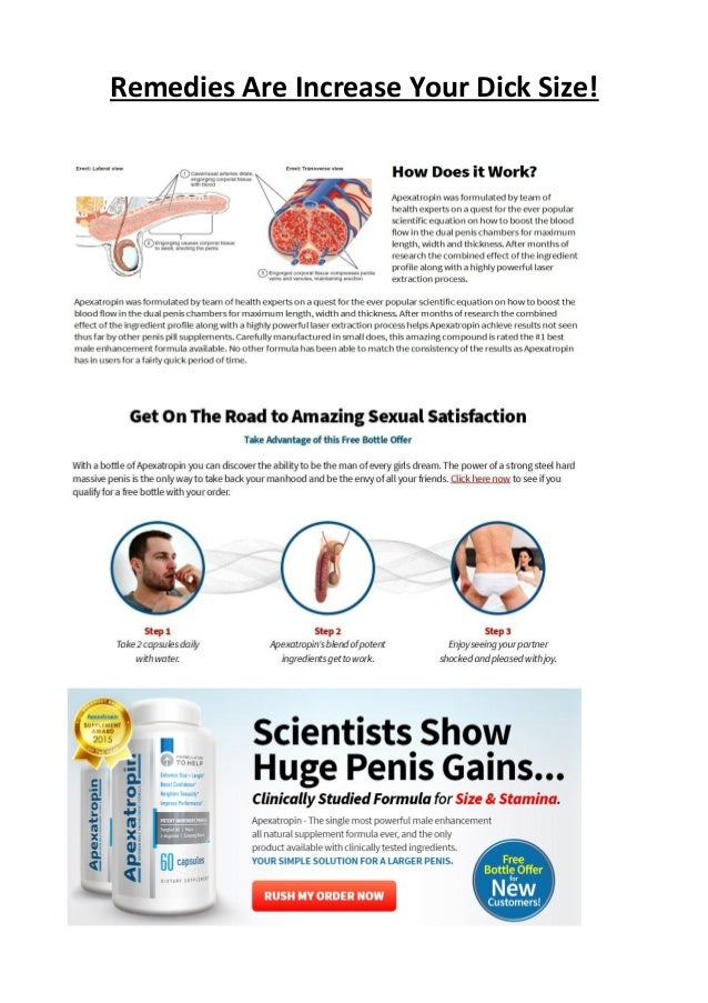 Remedies Are Increase Your Dick Size!