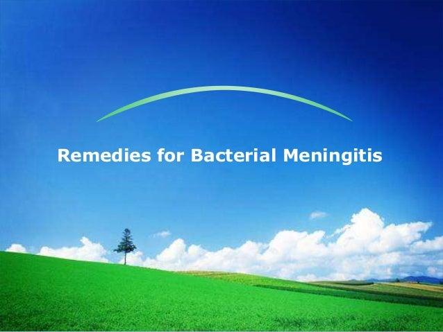 Remedies for Bacterial Meningitis