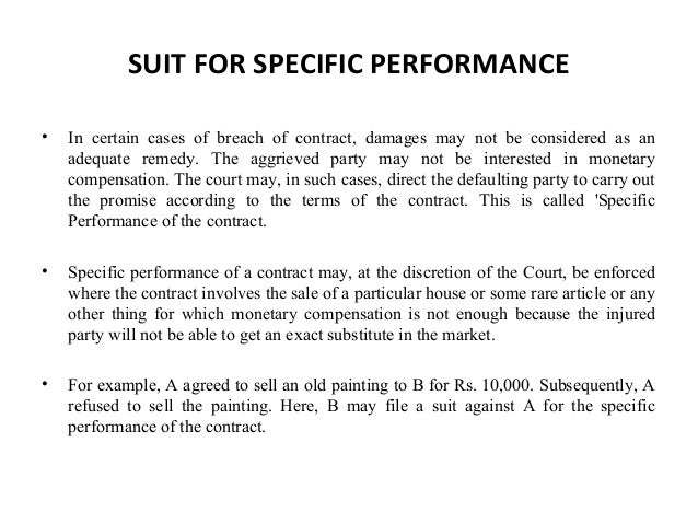 remedies contract and specific performance Unlike the equitable remedies of specific performance andinjunction (see  specific performance and injunctionsbelow) damages for loss in a breach of.